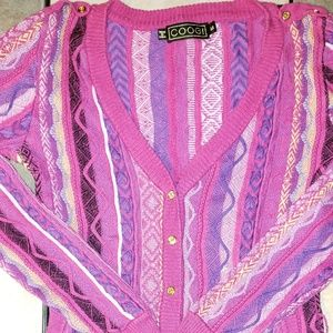 Vintage Coogi 3D Textured Knit Cardigan